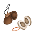 Two beautiful castanets on a white background vector