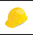 Yellow safety helmet vector
