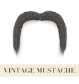 Realistic black vintage drooping mustache vector