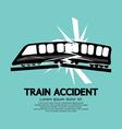 Train accident graphic vector