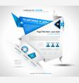 Origami website layout vector