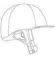 Horse riding helmet vector