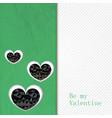 Hand drawn heart textured card vector