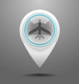 Glossy aircraft icon vector