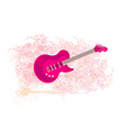 Image of pink guitar - abstract background vector