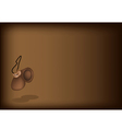 A beautiful castanet on dark brown background vector