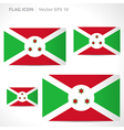 Burundi flag template vector