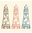 Retro lighthouses set vector