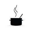 Cooking pot icon silhouette vector