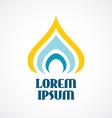 Religion logo template stylized orthodox church vector
