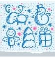 Christmas hand drawn design vector
