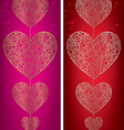 Valentines day filigree banners in format vector