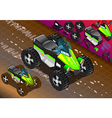 Isometric quad bike in front view vector