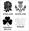 United kingdom emblems vector