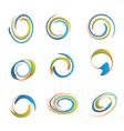 Set of swirls vector