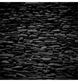 Stone wall black relief texture with shadow vector
