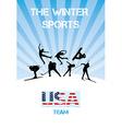 The winter sports usa team vector