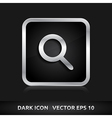 Search icon silver metal vector