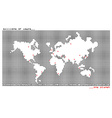 World map one planet vector