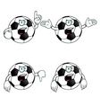 Very angry cartoon football set vector
