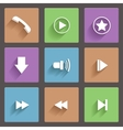 Media player web icons vector