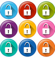 Round lock buttons vector
