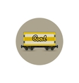 Icon the railway freight car for coal vector