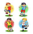 Soccer boys vector