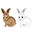 White and brown rabbits2 vector