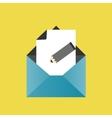 Icon pencil letter envelope paper vector