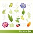 Set of nature elements vector