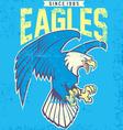 Vintage eagle mascot vector