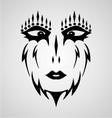 Tribal mask vector
