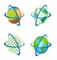 Around the world around globe vector
