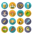 Beer icons set flat vector
