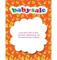 Baby sale with colorful background vector