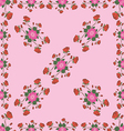 Seamless pattern with roses on a diagonal vector