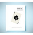 Report a pair 8 bit playing card isolated vector