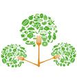 Food fork tree vector