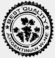 Stamp for argentinian wine vector