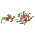 Vine flower border vector