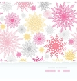 Abstract floral vignettes torn frame seamless vector