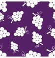 Pattern silhouette grapes vector