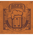 Hand drawn grunge beer background vector