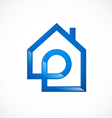 House initial realty logo vector