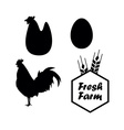 Chicken and farm emblems vector