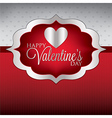 Label valentines day heart cardinvitation in vector