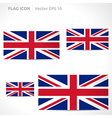 United kingdom flag template vector