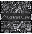 Hand drawn business icons set vector