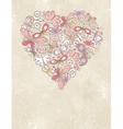 Grunge background with valentine heart vector